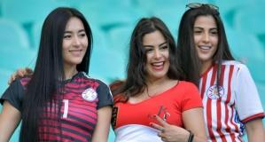 Copa America'da tribünlerden renkli kareler