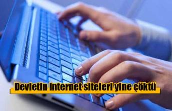 Devletin internet siteleri yine çöktü