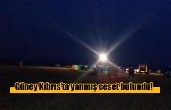Güney Kıbrıs'ta yanmış ceset bulundu!
