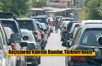 İlk kez geçişlerde Kıbrıslı Rumlar, Türkleri Geçti