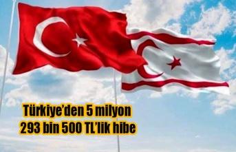 Türkiye'den, Orman Dairesi'ne 5 milyon 293 bin 500 tl'lik hibe