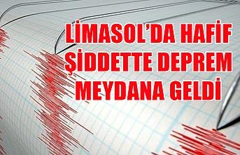 Limasol'da hafif şiddette deprem meydana geldi