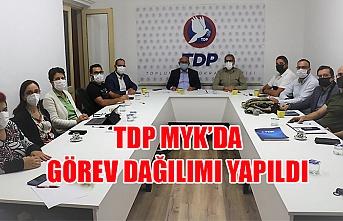 TDP MYK'da Görev Dağılımı Yapıldı
