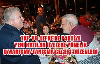 TKP-YG, Lefke'de partiye yeni katılan üyelere yönelik dayanışma-tanışma gecesi düzenledi