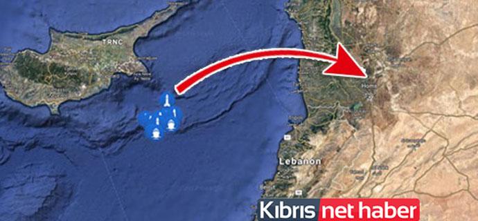Füzelerin fırlatıldığı gemiler Kıbrıs açıklarında