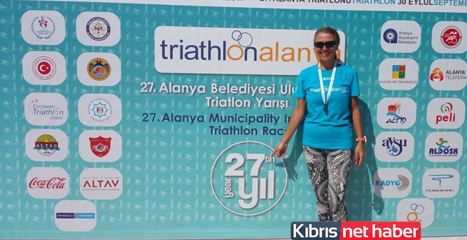 Triathlon Yarışı'nda birinci oldu!