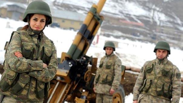Türkiye'de kadınlar askere...
