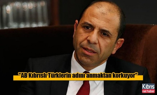 ''AB Kıbrıslı Türklerin adını anmaktan korkuyor''