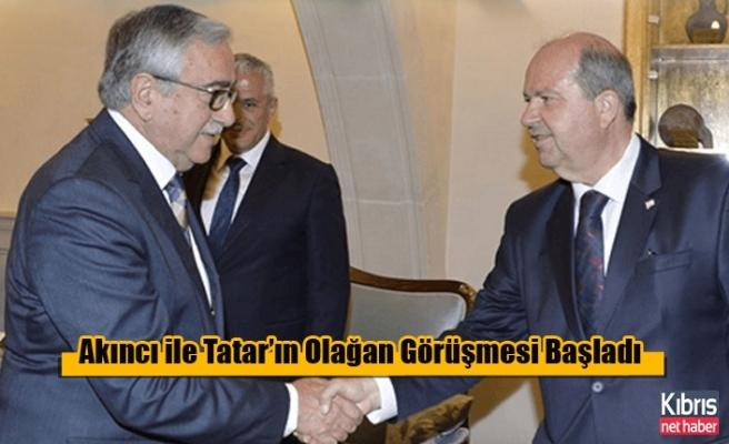 Akıncı ile Tatar'ın Olağan Görüşmesi Başladı