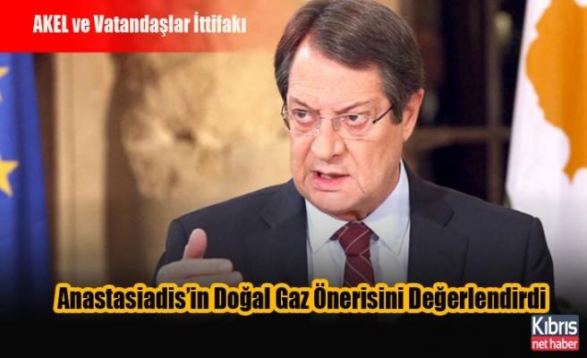 AKEL ve Vatandaşlar İttifakı Anastasiadis'in Doğal Gaz Önerisini Değerlendirdi