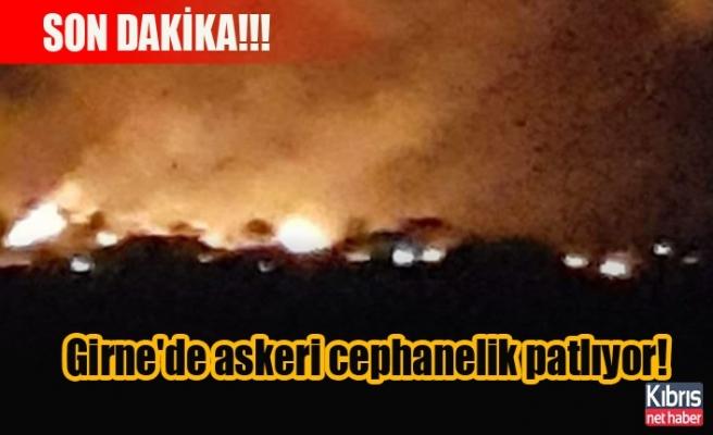 Girne'de askeri cephanelik patlıyor!