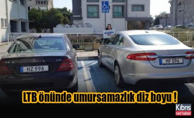 Lefkoşa'da hem de LTB önünde umursamazlık diz boyu !