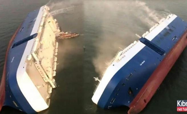 Ünlü otomobil firmasının kargo gemisi battı