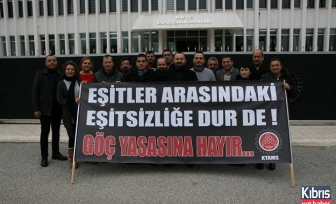 KTAMS Başbakanlık Önünde Eylem Yaptı
