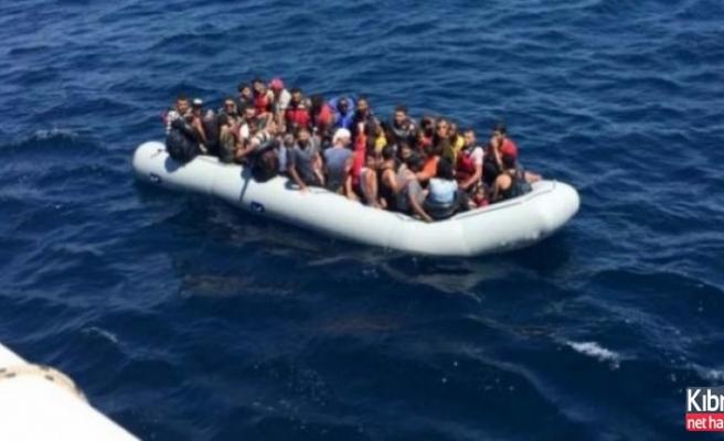 Yeşilırmak açıklarında 34 sığınmacı tespit edildi