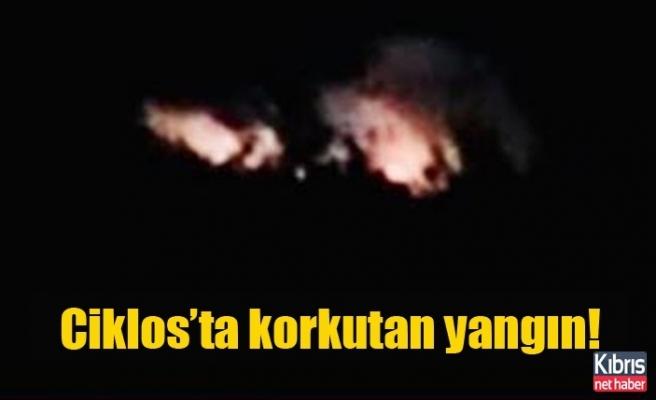 Ciklos'ta korkutan yangın!