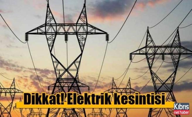 Girne'de elektrik kesintisi!