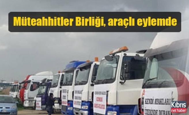 Müteahhitler Birliği, Lefkoşa'da araçlı eylem yapıyor