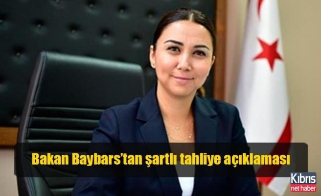 Bakan Baybars'tan şartlı tahliye açıklaması