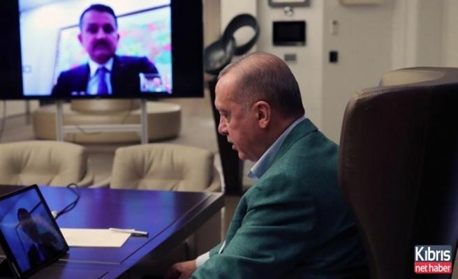 Erdoğan, bakanlarla internet üzerinden görüştü