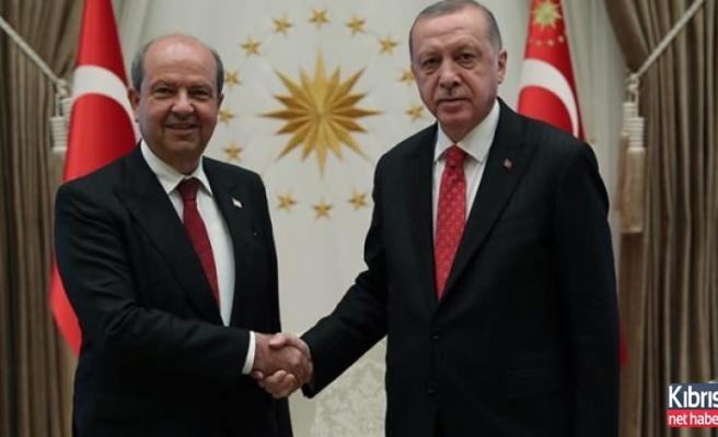 Erdoğan, Ersin Tatar ile görüştü