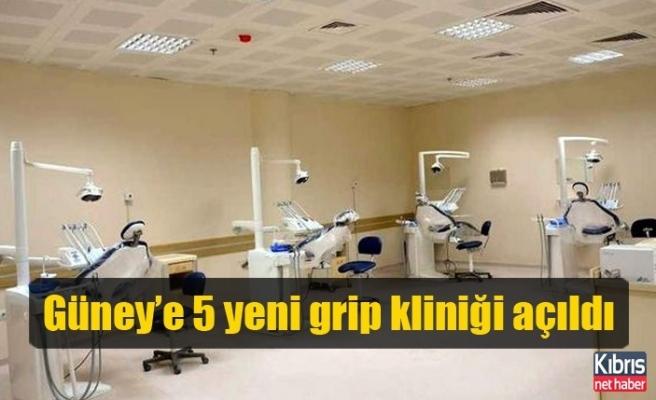 Güney'e 5 yeni grip kliniği açıldı