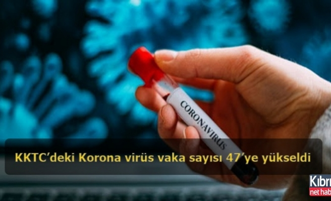 KKTC'deki Korona virüs vaka sayısı 47'ye yükseldi