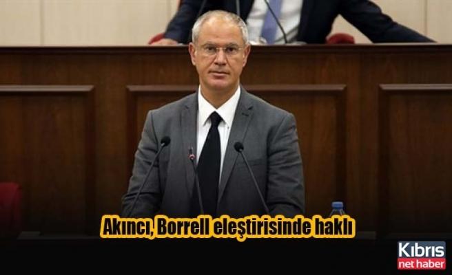 Hasipoğlu: Akıncı, Borrell eleştirisinde haklı