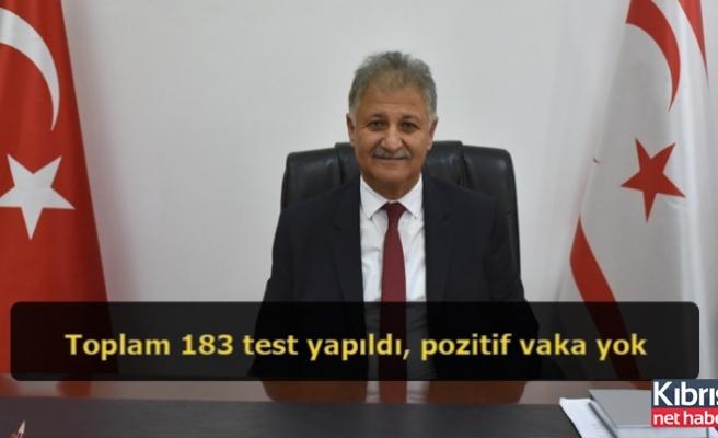 Pilli:Toplam 183 test yapıldı, pozitif vaka yok