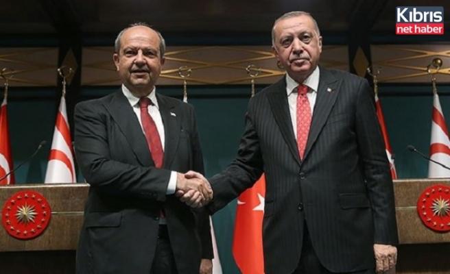Tatar ile T.C. Cumhurbaşkanı Erdoğan bayramlaştı