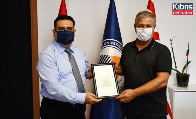 KTİMB başkanı Gürcafer'den DAÜ'ye ziyaret