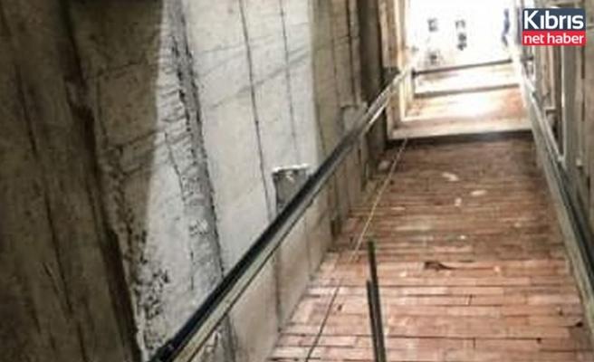 14 metrelik asansör boşluğuna düşen genç ağır yaralı