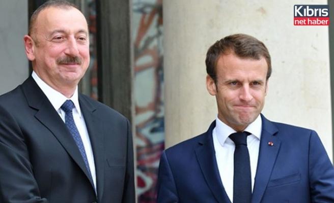 Aliyev ve Macron, Karabağ sorununu görüştü