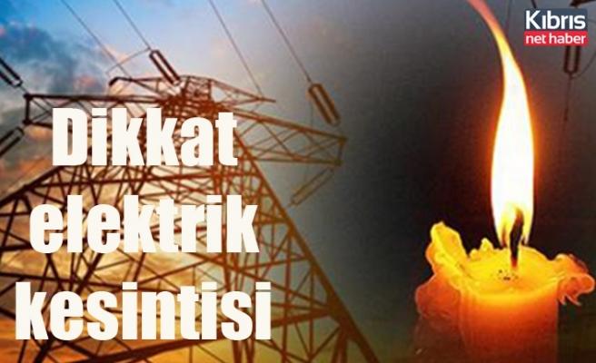 Bazı bölgelerde yarın 5 saatlik elektrik kesintisi olacak