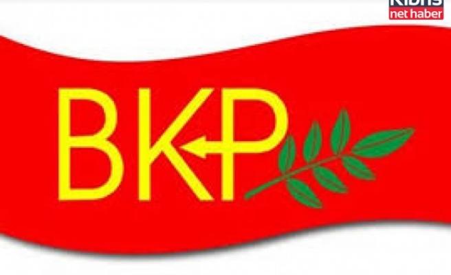 BKP, Akıncı'nın adaylıktan çektirilmesi için yapıldığını iddia ettiği baskıları kınadı