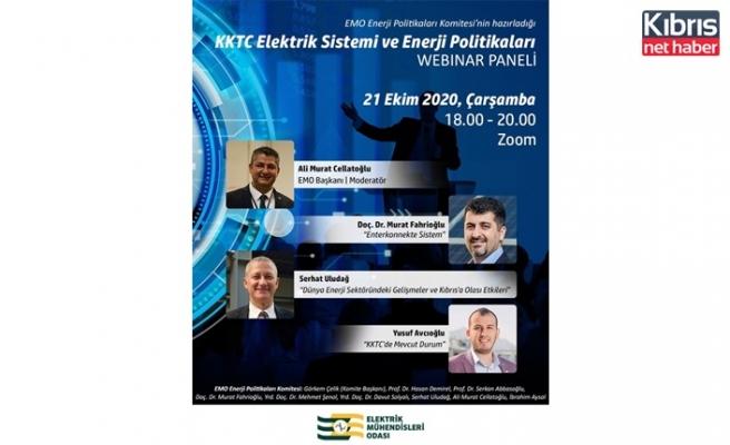 """EMO, """"KKTC elektrik sistemi ve enerji politikaları"""" panelini internet ortamında düzenliyor"""