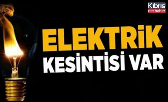 Girne bölgesinde yarın 6 saatlik elektrik kesintisi