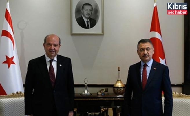Türkiye Cumhurbaşkanı yardımcısı Oktay, Ersin Tatar'ı kutladı