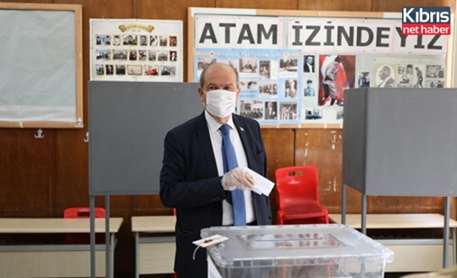 UBP Cumhurbaşkanı adayı Tatar oyunu kullandı