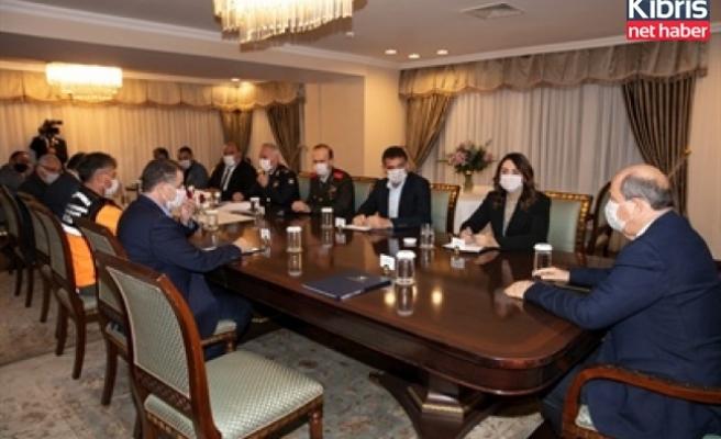 Cumhurbaşkanlığı'nda afetle ilgili acil durum toplantısı yapıldı