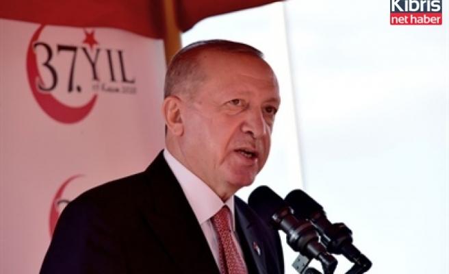 Erdoğan, KKTC'nin 37. yıl dönümü töreninde konuştu