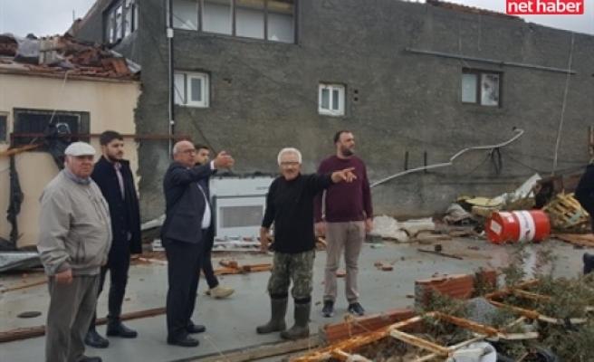 TDP heyeti afet bölgelerinde incelemelerde bulundu