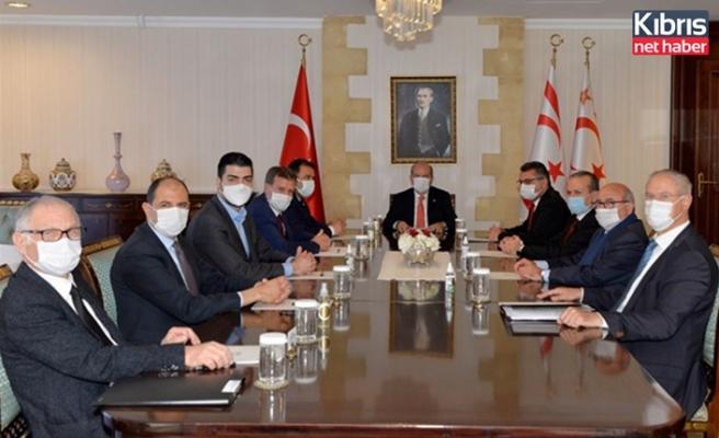 Cumhurbaşkanı Tatar, siyasi parti başkanlarıyla görüşüyor