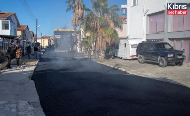 Gazimağusa Belediyesi, Tuzla'da asfaltlama çalışmalarına başladı
