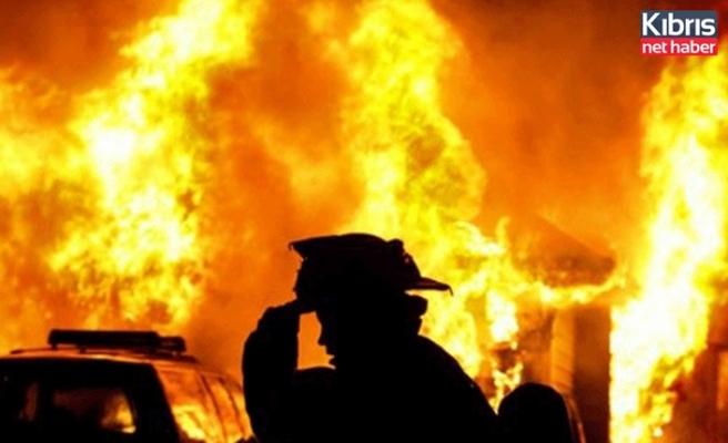 Güzelyurt ve Gazimağusa'da ev yangını