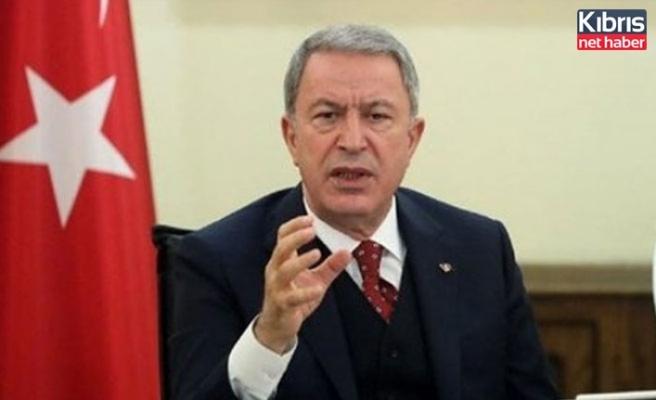 Savunma Bakanı Akar: Yunanistan'la görüşmeler çerçevesinde sorunlarımızın çözülebileceğine inanıyoruz