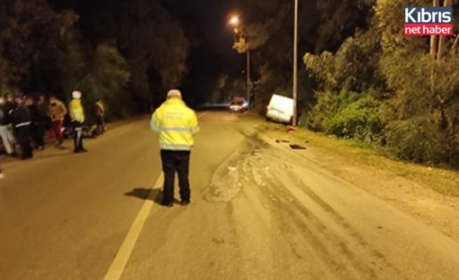 Gazimağusa'da Motosikletle Kamyonet Aracin Çarpiştiği Kazada 1 Kişi Yaşamini Yitirdi