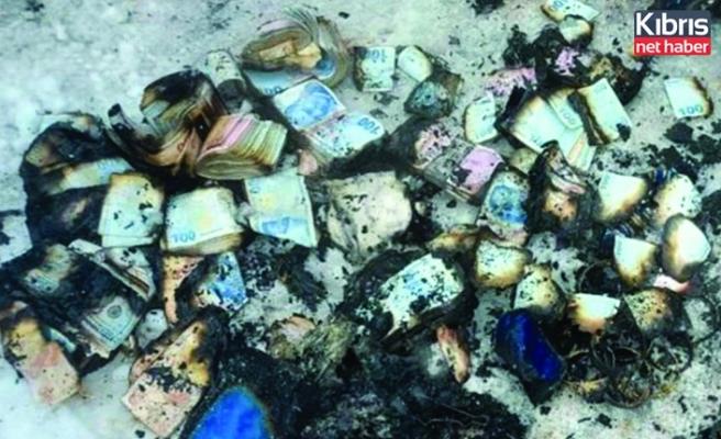 Küle dönen evde 500 bin TL nakit binlerce lira değerinde altın çıktı