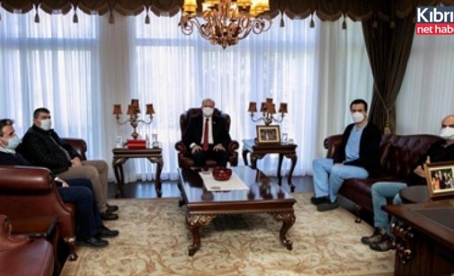 Tatar, Ahmet Varış ve beraberindeki kamu hekimlerini kabul etti
