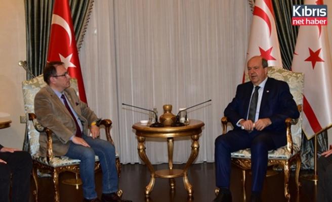 Cumhurbaşkanı Tatar, Kıbrıs Türk Mavi Vatan Derneği heyetini kabul etti